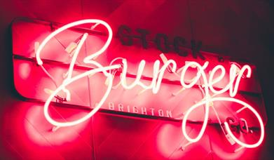 Picture of neon Stock Burger Logo