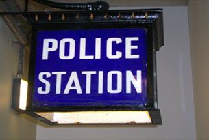 Old Police Cells - Police Station sign