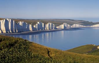 The Seven Sisters cliffs seen from Seaford Head