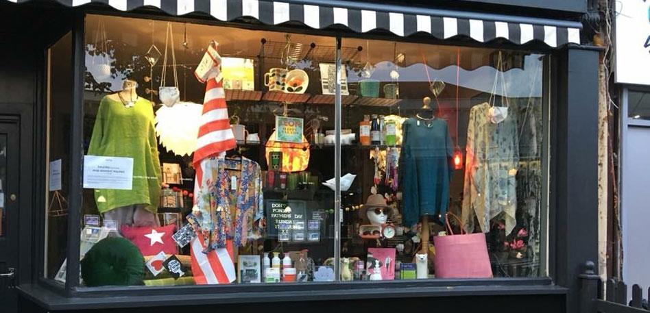 Shop windows on Gloucester Road. Image Anne-Louise Perez
