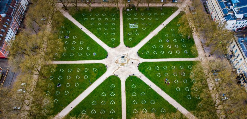 Love Bristol Queen Square Aerial