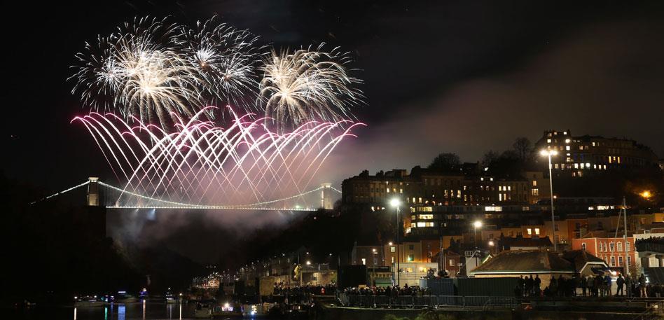 Clifton Suspension Bridge Fireworks - Image Paul Box