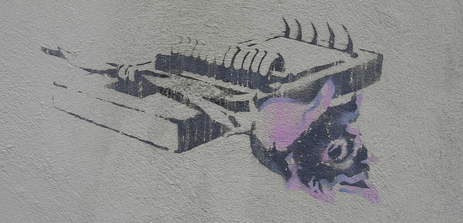 Banksy's Girl Rose trap