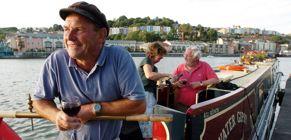 Recommended for Groups in Bristol - Man on a barge in the Bristol Harbour: Credit Graham Flack