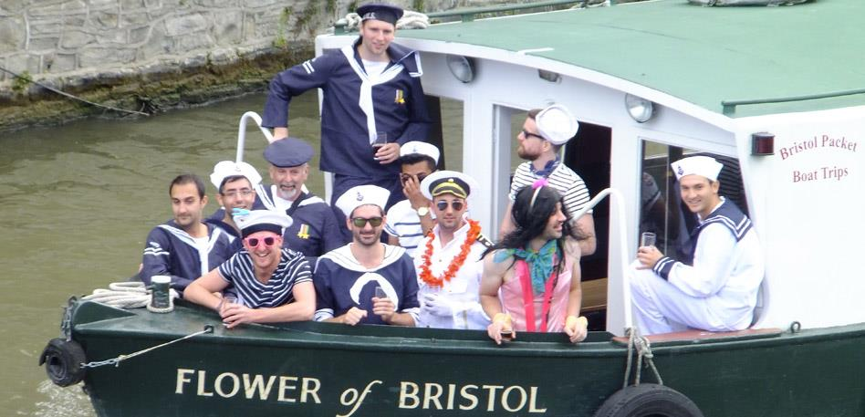 Stag and Hen Parties in Bristol - Boat Trip: Credit Debbie Grosvenor