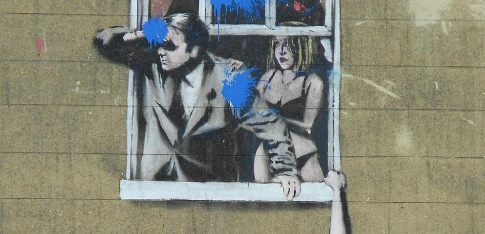Banksy's Well Hung Lover
