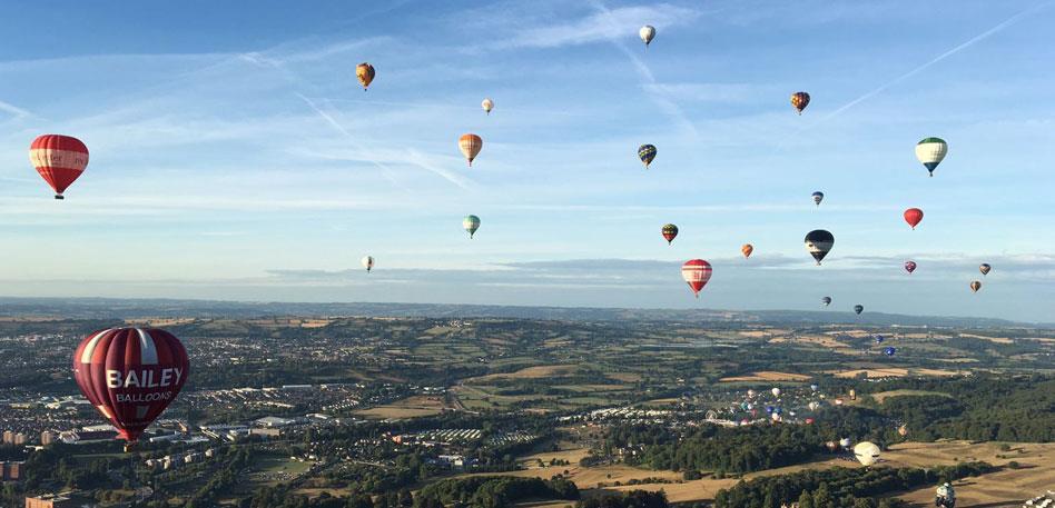 Bailey Balloons at the Bristol International Balloon Fiesta