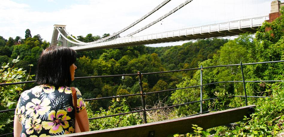 Looking out to Clifton Suspension Bridge - Image Jim Cossey