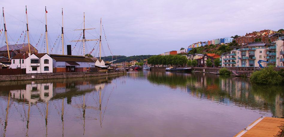 Sunrise over Hotwells and the ss Great Britain - Image David Price