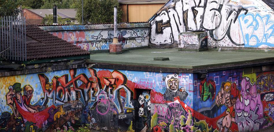 Street art at Montpelier train station - Image Stafford Wilson