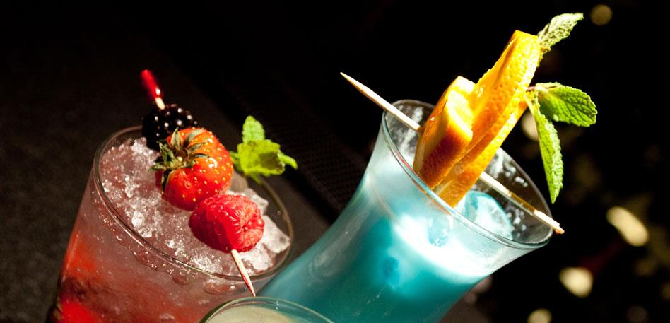 Cocktails on the bar at The Radisson Blu Bristol