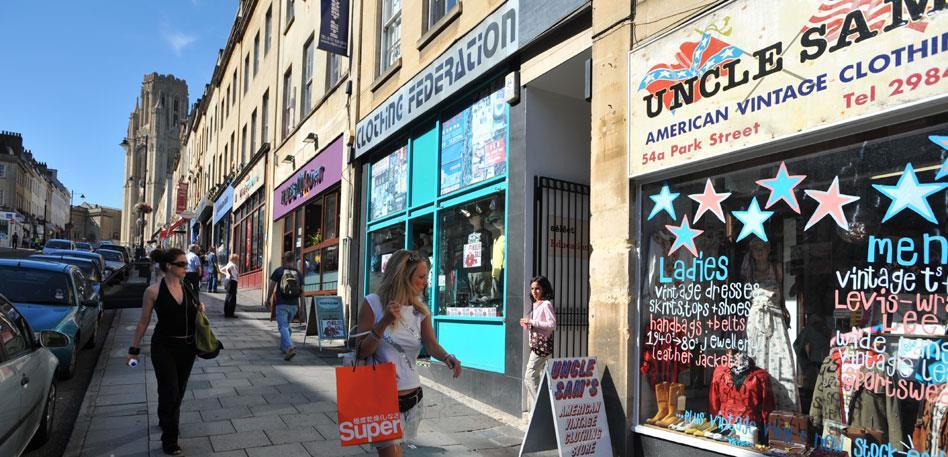 Shoppers on Park Street - Image Tamany Baker