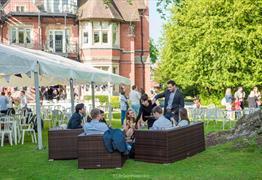 Berwick Lodge wedding outside