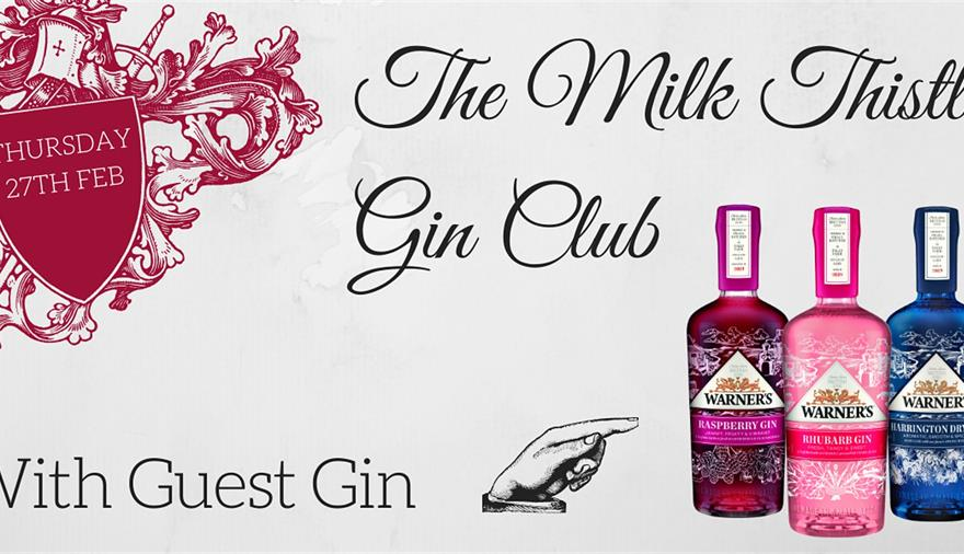 Gin Club: Warner's Gin at Milk Thistle