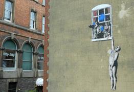Banksy Grafitti Well-Hung Lover Bristol