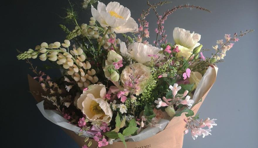 British Meadow Bouquet Making Class with Jasper + Quinn at The Square Club