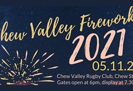 Chew Valley Fireworks at Chew Valley Rugby Club