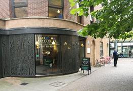 St James Priory Cafe Exterior