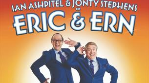 Ian Ashpitel and Jonty Stephens as Eric and Ern at Redgrave Theatre
