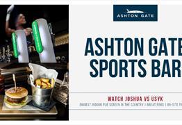 Joshua v Usyk at Ashton Gate Sports Bar