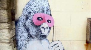 Banksy Graffiti Masked Gorilla