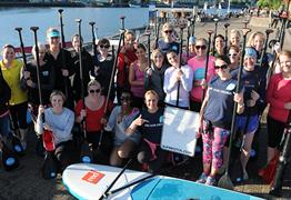 SUP Stand Up Paddle Boarding Team Building