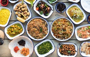 Vegan dishes from the Coconut Tree