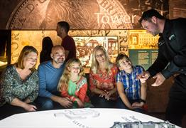 Family at The Royal Mint Experience