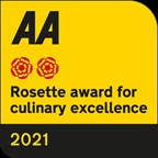 AA 2 Rosettes Award for Culinary Excellence.