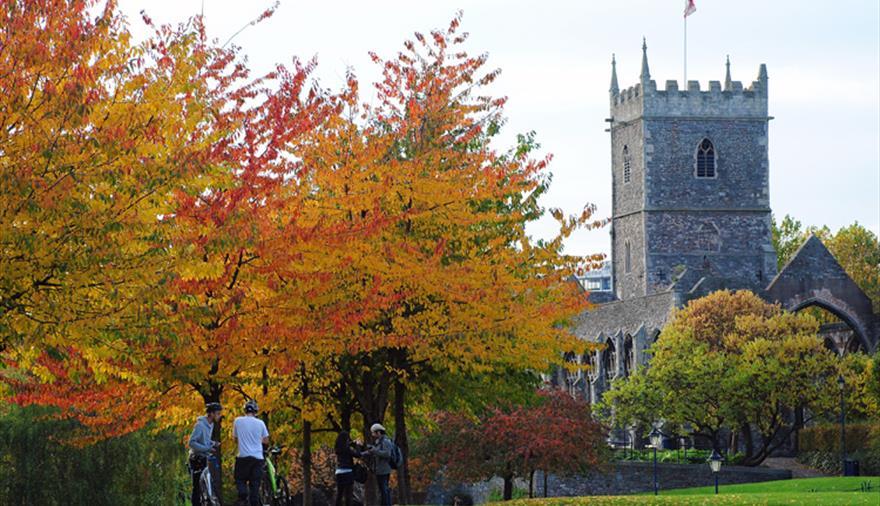Castle Park Bristol - St Peter's Church