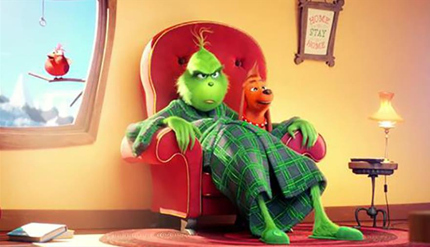 The Grinch on the We The Curious Big Screen
