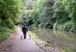 Walking along the river Frome - Oldbury Court and Snuff Mills Bristol