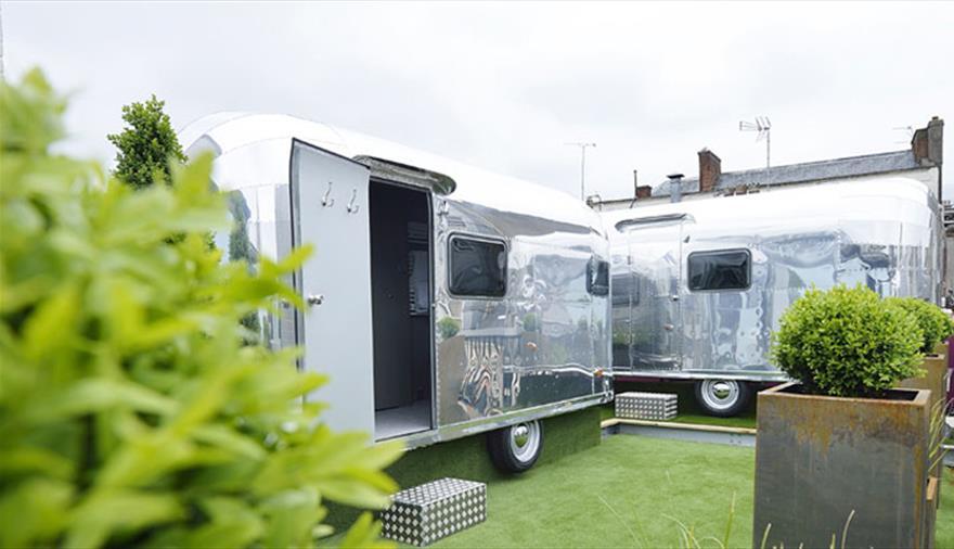 Stay in a Rooftop Retro Rocket Caravan
