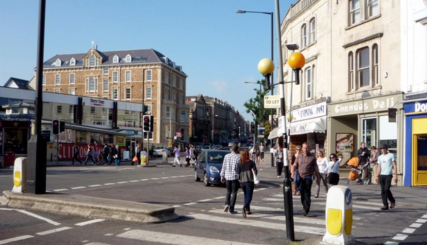 Shopping on Whiteladies Road Bristol