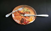 Painting: plate with food