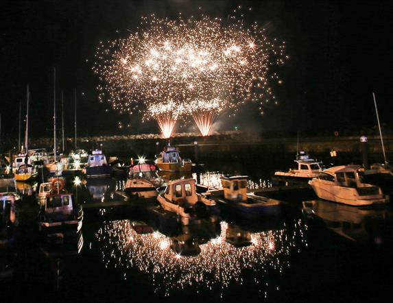 Fireworks in Ballycastle Marina