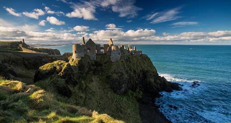 Dunluce Castle Medieval Irish Castle on the Antrim Coast