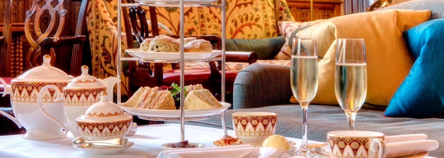 Traditional afternoon tea served at Ellenborough Park Hotel, Cheltenham