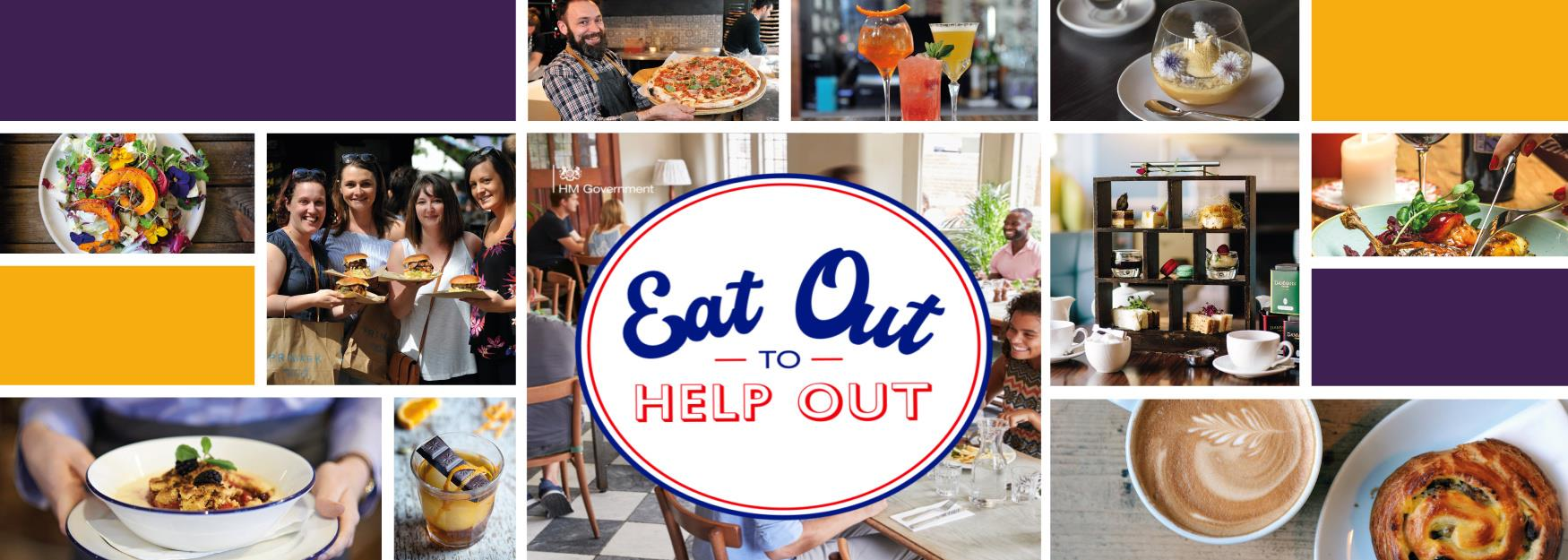 Eat Out To Help Out Restaurants in Cheltenham  collage of images