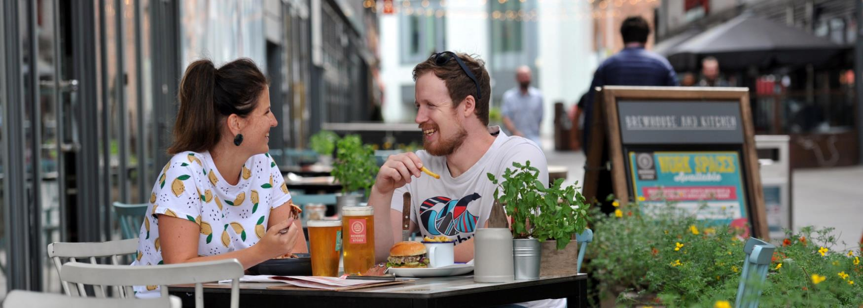 The Brewhouse & Kitchen - One of the many places to eat outdoors in Cheltenham.