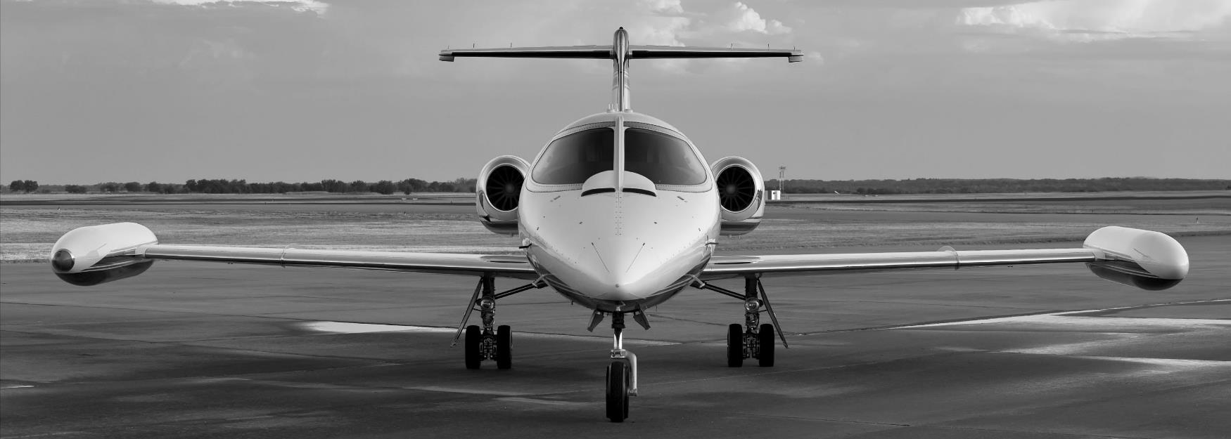 Private business jet at Gloucestershire Airport, Cheltenham