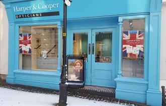 Exterior of Harper and Cooper Opticians