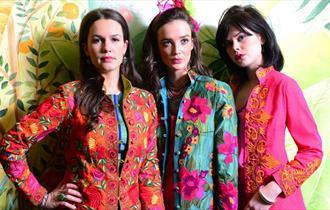 Models wearing designs from Beatrice von Tresckow