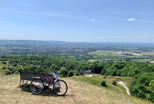 Cleeve Hill overlooking Cheltenham