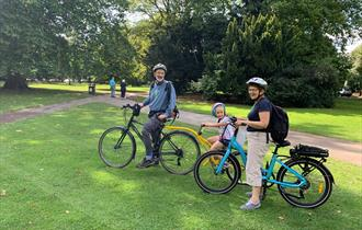 Biking in Cheltenham - Pittville Park
