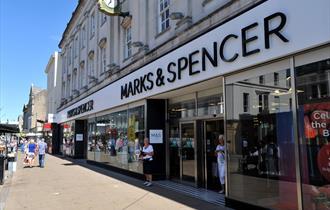 Exterior of Marks & Spencer