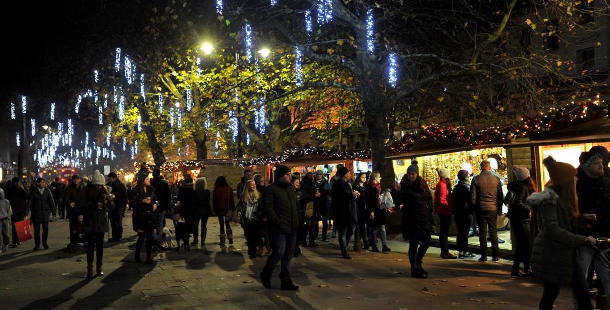 Late night Christmas shopping Cheltenham