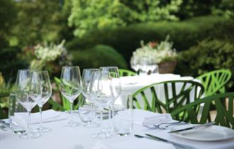 Dining on the Terrace, Cowley Manor