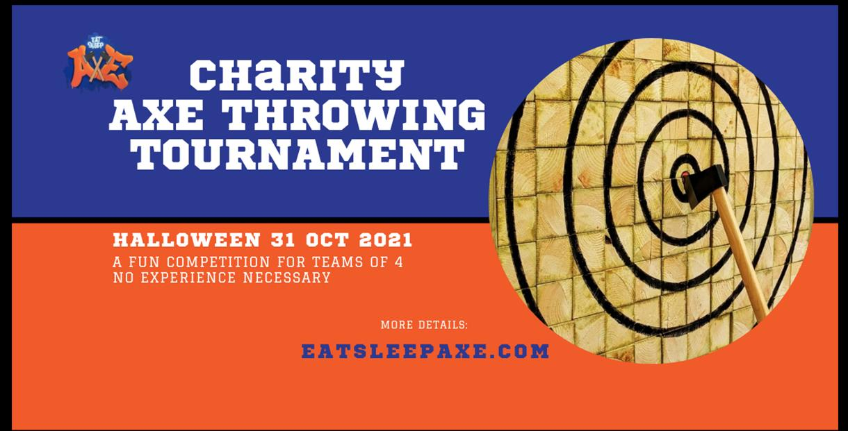 Charity axe throwing tournament