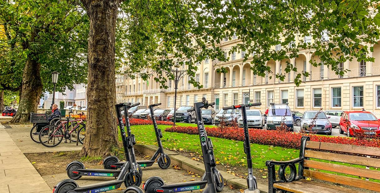 Electric scooters, Zwings, The Promenade Cheltenham